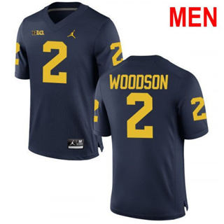 Men's Michigan Wolverines #2 Charles Woodson Navy 2019 College Football Jersey