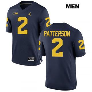 Men's Michigan Wolverines #2 Shea Patterson Navy NCAA Football Jersey