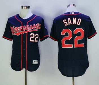 Men's Minnesota Twins 22 Miguel Sano Navy Flexbase Jersey