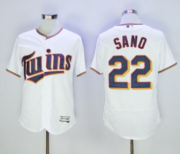 Men's Minnesota Twins 22 Miguel Sano White Flexbase Jersey