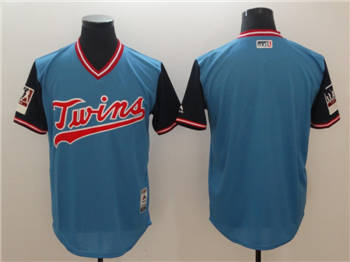 Men's Minnesota Twins Light Blue 2018 Players' Weekend  Team Jersey