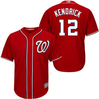 Men's Nationals #12 Howie Kendrick Red Cool Base Stitched Baseball Jersey