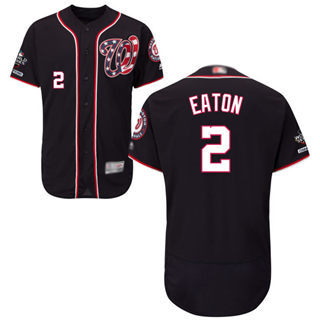 Men's Nationals #2 Adam Eaton Navy Blue Flexbase Authentic Collection 2019 World Series Champions Stitched Baseball Jersey