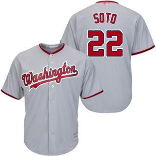 Men's Nationals #22 Juan Soto Grey New Cool Base Stitched Baseball Jersey