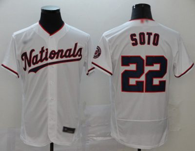 Men's Nationals #22 Juan Soto White Alternate Authentic Stitched Baseball Jersey