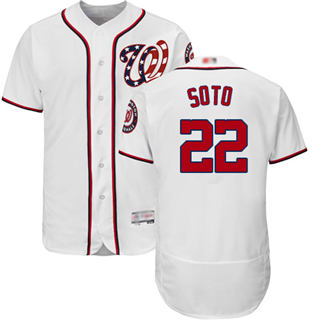 Men's Nationals #22 Juan Soto White Flexbase  Collection Stitched Baseball Jersey