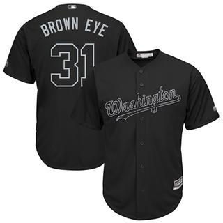 Men's Nationals #31 Max Scherzer Black Brown Eye Players Weekend Cool Base Stitched Baseball Jersey