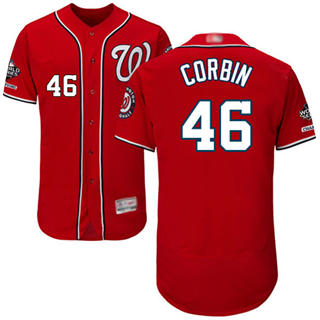 Men's Nationals #46 Patrick Corbin Red Flexbase Authentic Collection 2019 World Series Champions Stitched Baseball Jersey
