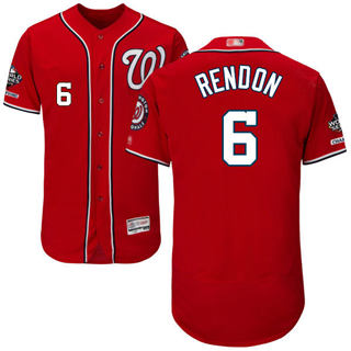 Men's Nationals #6 Anthony Rendon Red Flexbase Authentic Collection 2019 World Series Champions Stitched Baseball Jersey