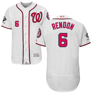 Men's Nationals #6 Anthony Rendon White Flexbase Authentic Collection 2019 World Series Champions Stitched Baseball Jersey