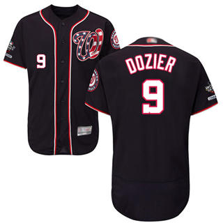Men's Nationals #9 Brian Dozier Navy Blue Flexbase Authentic Collection 2019 World Series Champions Stitched Baseball Jersey