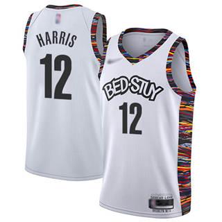 Men's Nets #12 Joe Harris White Basketball Swingman City Edition 2019-2020 Jersey