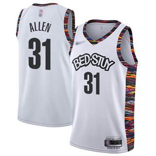 Men's Nets #31 Jarrett Allen White Basketball Swingman City Edition 2019-2020 Jersey