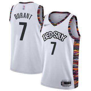 Men's Nets #7 Kevin Durant White Basketball Swingman City Edition 2019-2020 Jersey