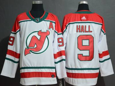 Men's New Jersey Devils #9 Taylor Hall White Alternate Breakaway  Hockey Jersey