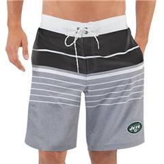Men's New York Jets G-III Sports by Carl Banks Heathered GrayBlack Balance Quick Dry Swim Trunks