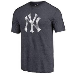 Men's New York Yankees Distressed Team Tri-Blend T-Shirt - Heathered Navy