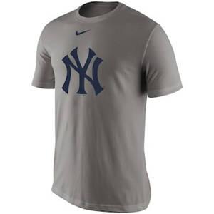Men's New York Yankees  Legend Batting Practice Primary Logo Performance T-Shirt – Gray