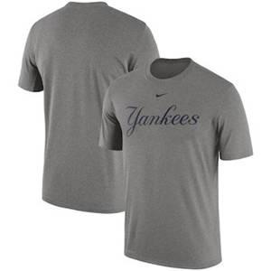 Men's New York Yankees  Legend Primary Logo Performance T-Shirt – Heathered Gray