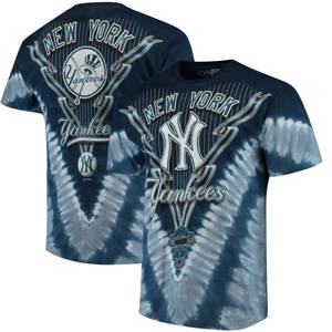 Men's New York Yankees Tie-Dye T-Shirt - Navy Blue