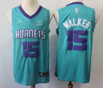Men's  Charlotte Hornets #15 Kemba Walker Teal Basketball Jordan Brand Swingman Jersey