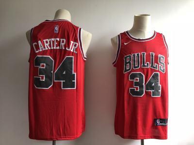 Men's  Chicago Bulls #34 Wendell Carter Jr. Red Basketball Swingman Icon Edition Jersey