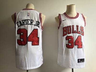 Men's  Chicago Bulls #34 Wendell Carter Jr. White Basketball Swingman Association Edition Jersey