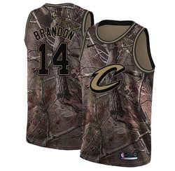 Men's  Cleveland Cavaliers #14 Terrell Brandon Camo Basketball Swingman Realtree Collection Jersey