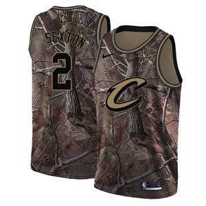 Men's  Cleveland Cavaliers #2 Collin Sexton Camo Basketball Swingman Realtree Collection Jersey