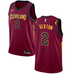 Men's  Cleveland Cavaliers #2 Collin Sexton Red Basketball Swingman Icon Edition Jersey