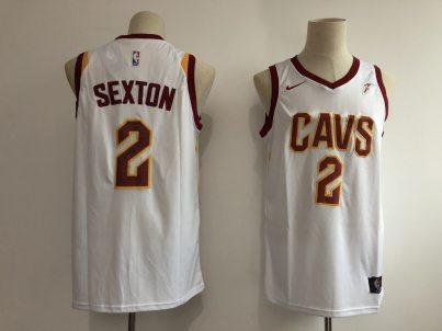 Men's  Cleveland Cavaliers #2 Collin Sexton White Basketball Swingman Association Edition Jersey