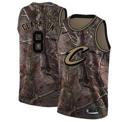 Men's  Cleveland Cavaliers #8 Jordan Clarkson Camo Basketball Swingman Realtree Collection Jersey
