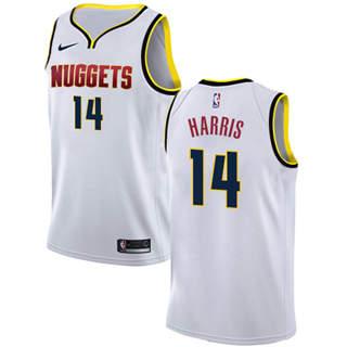 Men's  Denver Nuggets #14 Gary Harris White Basketball Swingman Association Edition Jersey
