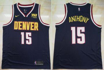 Men's  Denver Nuggets #15 Carmelo Anthony Navy Basketball Swingman Icon Edition Jersey