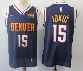 Men's  Denver Nuggets #15 Nikola Jokic Navy Basketball Swingman Icon Edition Jersey