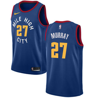 Men's  Denver Nuggets #27 Jamal Murray Blue Basketball Swingman Statement Edition Jersey