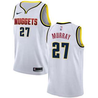 Men's  Denver Nuggets #27 Jamal Murray White Basketball Swingman Association Edition Jersey