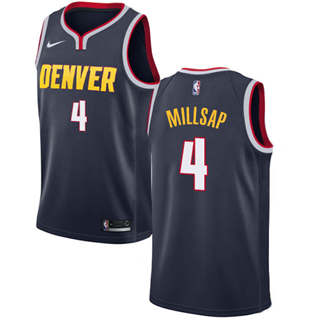 Men's  Denver Nuggets #4 Paul Millsap Navy Basketball Swingman Icon Edition Jersey
