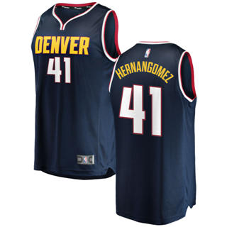 Men's  Denver Nuggets #41 Juan Hernangomez Navy Basketball Swingman Icon Edition Jersey