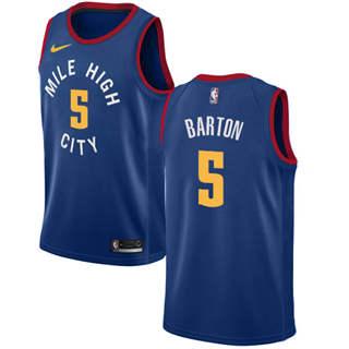 Men's  Denver Nuggets #5 Will Barton Blue Basketball Swingman Statement Edition Jersey