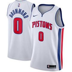 Men's  Detroit Pistons #0 Andre Drummond White Basketball Swingman Association Edition Jersey