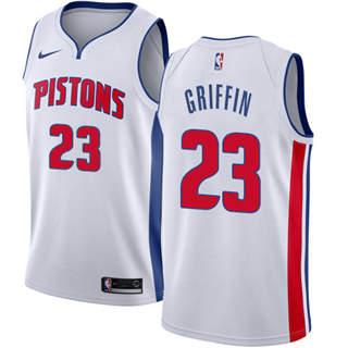 Men's  Detroit Pistons #23 Blake Griffin White Basketball Swingman Association Edition Jersey