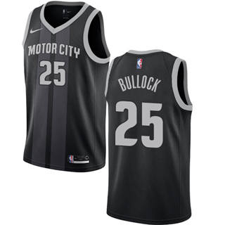 Men's  Detroit Pistons #25 Reggie Bullock Black 2018-19 City Edition Basketball Swingman Jersey