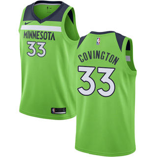 Men's  Minnesota Timberwolves #33 Robert Covington Green Basketball Swingman Statement Edition Jersey
