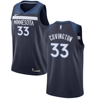 Men's  Minnesota Timberwolves #33 Robert Covington Navy Blue Basketball Swingman Icon Edition Jersey