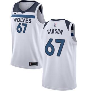 Men's  Minnesota Timberwolves #67 Taj Gibson White Basketball Swingman Association Edition Jersey