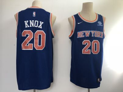 Men's  New York Knicks #20 Kevin Knox Blue Basketball Swingman Icon Edition Jersey