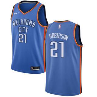 Men's  Oklahoma City Thunder #21 Andre Roberson Blue Basketball Swingman Icon Edition Jersey