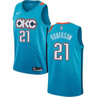 Men's  Oklahoma City Thunder #21 Andre Roberson Turquoise 2018-19 City Edition Basketball Swingman Jersey
