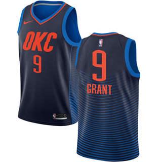 Men's  Oklahoma City Thunder #9 Jerami Grant Navy Blue Basketball Swingman Statement Edition Jersey